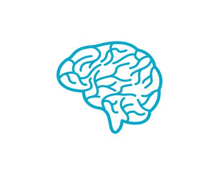 Brain vector illustration icon template