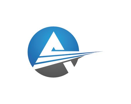 un logo de lettre entreprise vecteur icône du design