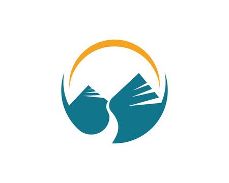 Mountain icon  Logo Template Vector  イラスト・ベクター素材