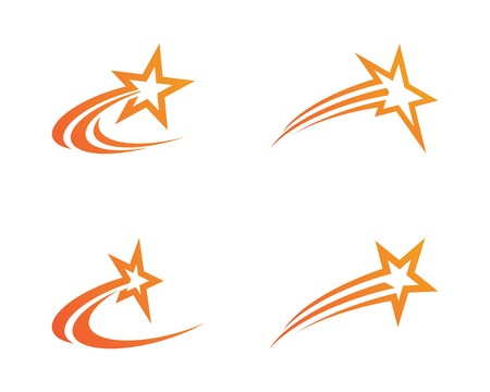 Star Logo Template vector icon illustration design Illusztráció