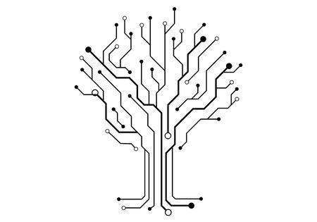 Circuit illustration vector design.