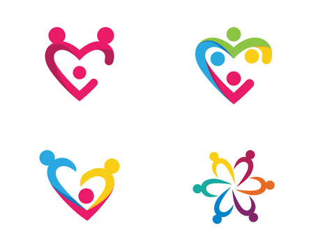 Adoption and Community care template vector icon