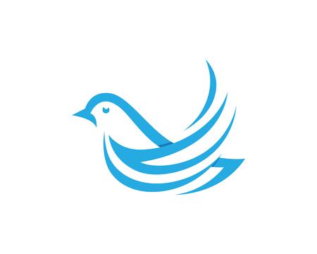 Bird wing dove icon template vector illustration.