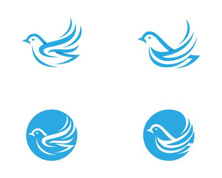 Bird wing Dove icon Template vector illustration