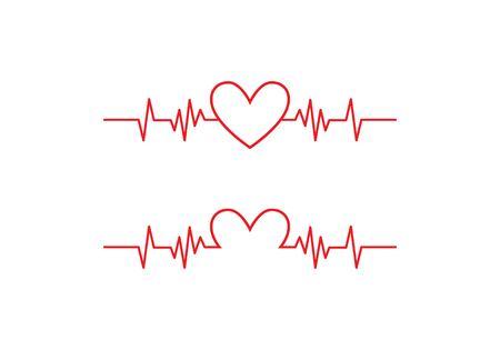 Art design health medical heartbeat pulse  イラスト・ベクター素材
