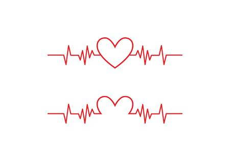 Art design health medical heartbeat pulse Ilustrace