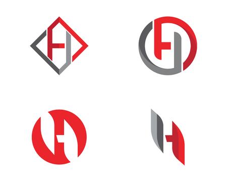 H Brief Logo Template Design Vektor-Illustration