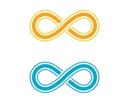 Infinity design vector illustration icon template design.