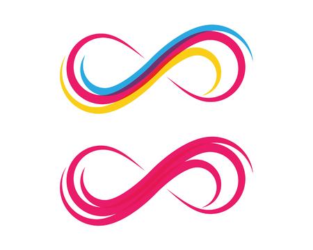 Infinity Design Vector illustration Logo template design Vettoriali