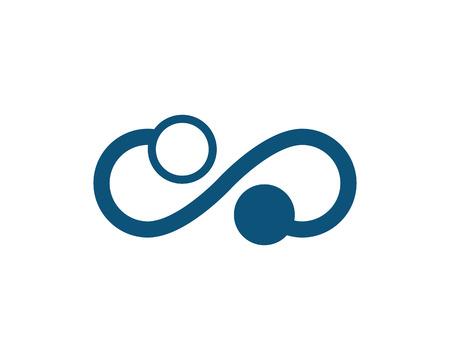 Infinity Design Vector illustration Logo template design Illusztráció