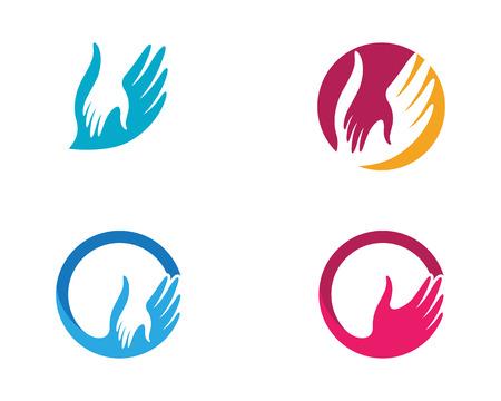 Ikona Pielęgnacja dłoni Szablon ikona wektor Biznes