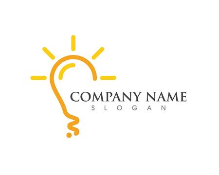 light bulb symbol logo template vector design