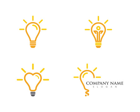 light bulb symbol logo template vector design