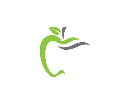 Apple vector illustration design icon logo template Illustration