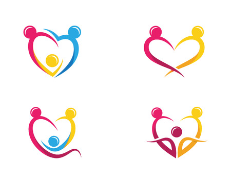 Adoption and community care icon template vector illustration.