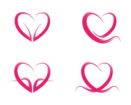 Beauty love vector icon illustration design template. Illustration