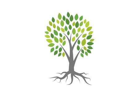 Modelo de ícone de vetor de logotipo de árvore Logos