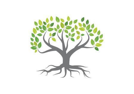 Tree logo vector icon template Stock Illustratie