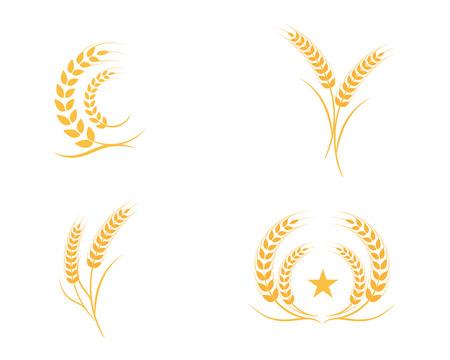Agriculture wheat Logo Template vector icon design 版權商用圖片 - 94978741