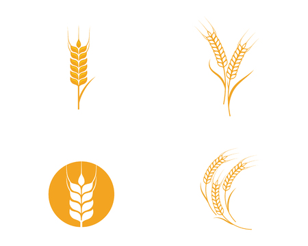 農業小麦 テンプレートベクトル アイコンデザインイラスト  イラスト・ベクター素材