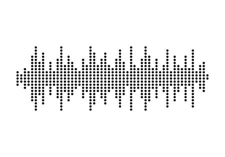 Audio technology, music sound waves vector icon illustration Stock fotó - 95135201