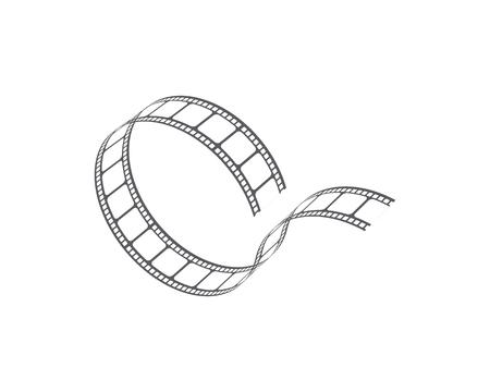 abstraktes Filmikonenvektorillustrations-Schablonendesign