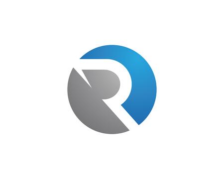 R Letter Logo Template vector illustration design Illustration
