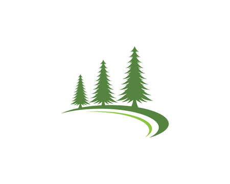 Cedar tree Logo template vector icon illustration design Illustration