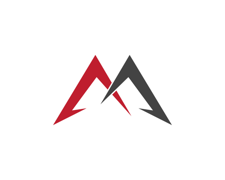M Letter Logo Template vector illustration design Illustration