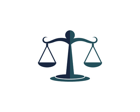 justice Logo Template vector illsutration design