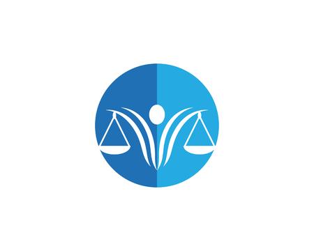 justice Logo Template vector illsutration design