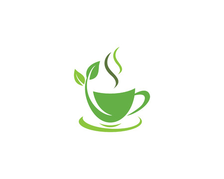 Cup of tea vector icon illustration design logo template Illustration