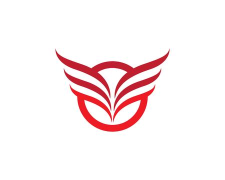 Flügel Falcon Logo Vorlage Vektor-Illustration Design Standard-Bild - 95874179
