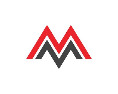 Business corporate M letter logo design vector