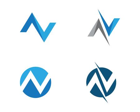 N Letter Logo Template vector icon illustration design Illustration