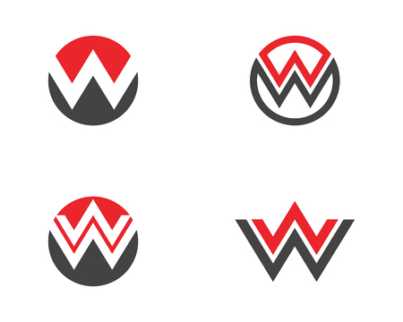 W Letter Logo Template vector illustration design