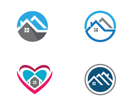 Real Estate , Property and Construction Logo design Illustration