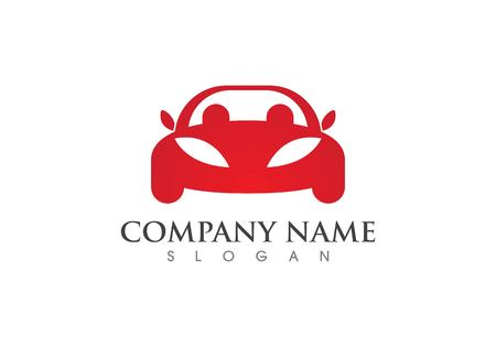 Auto car logo template in red.