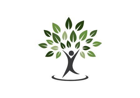 Family tree symbol icon logo design template