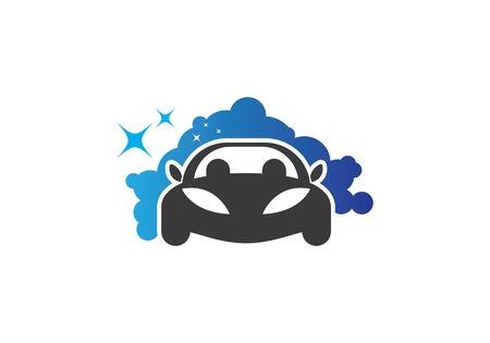 Auto car wash Logo Template