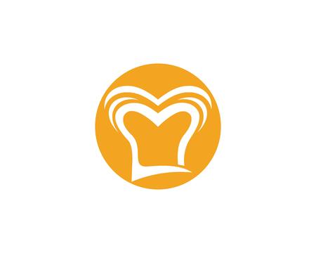 Chef hat logo template vector illustration Illustration