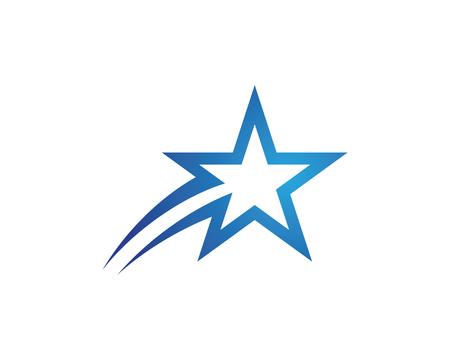 Star Logo Template vector icon illustration design Illusztráció