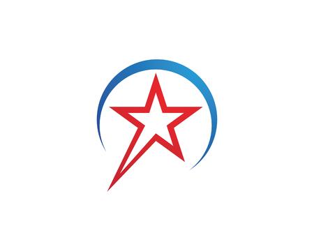 Star Logo Template vector icon illustration design Иллюстрация