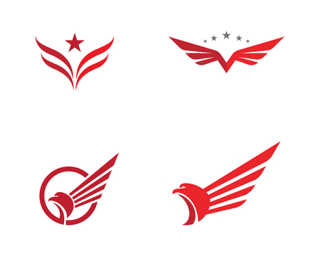 Falcon Wing Logo Template vector icon design Illustration