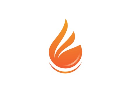 Fire flame Template vector icon Oil, gas and energy concept Illustration