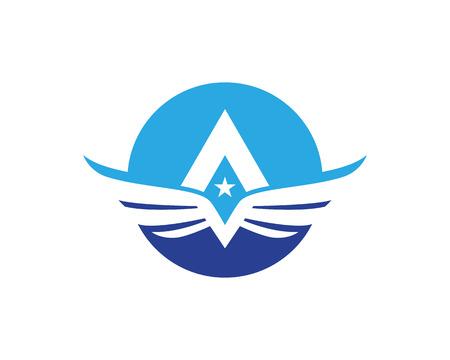 Falcon Wing Logo Template Illustration