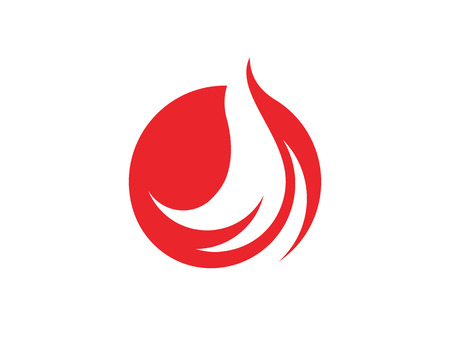 Fire flame icon template vector illustration design.  イラスト・ベクター素材