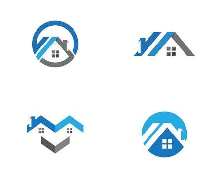 Real Estate , Property and Construction Logo design Illusztráció