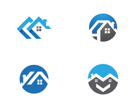 Real Estate , Property and Construction Logo design 일러스트