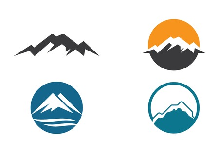 High Mountain icon  Logo Business Template Vector Иллюстрация